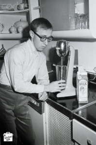 Woody Allen Makes Malted In His Kitchen