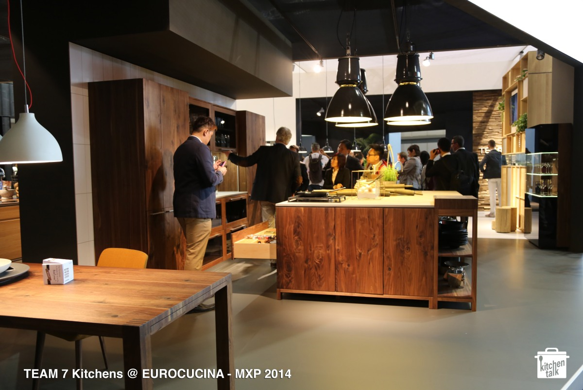 TEAM 7 shows darker woods @ EUROCUCINA 2014 / Milano 2014